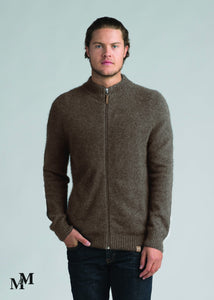 Possum Merino Mens Full Zip Jacket - Merino Mink