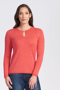 Merino Wool Long Sleeve Classic Keyhole - Royal Merino
