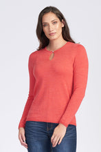 Load image into Gallery viewer, Merino Wool Long Sleeve Classic Keyhole - Royal Merino