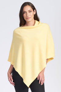 Merino Wool Asymmetric Poncho - Royal Merino