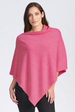 Load image into Gallery viewer, Merino Wool Asymmetric Poncho - Royal Merino