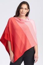 Load image into Gallery viewer, Merino Wool Graduated Stripe Poncho - Royal Merino