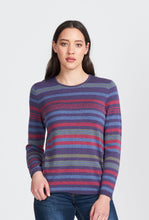 Load image into Gallery viewer, Merino Wool Multi Stripe Jumper - Royal Merino