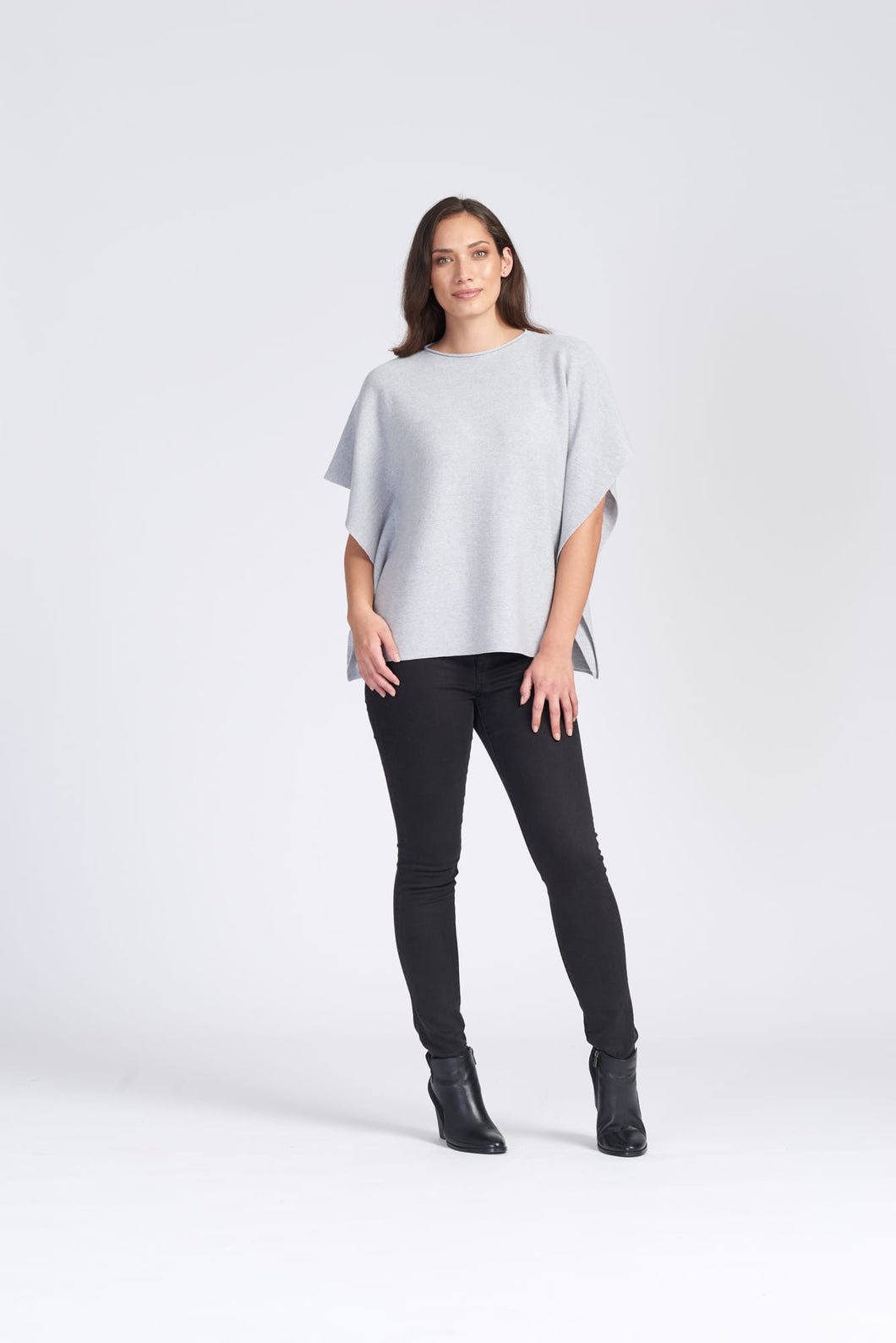 Merino Wool Loose Fit Garter Stitch Top - Royal Merino