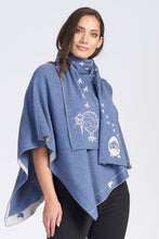 Load image into Gallery viewer, Merino Wool Kiwi Footprint Scarf - Royal Merino