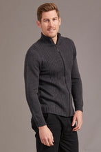 Load image into Gallery viewer, Merino Wool Rib Front Jacket - McDonald Textiles
