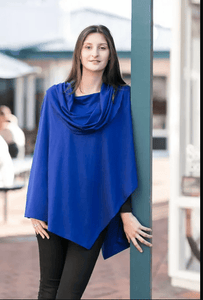 Merino Wool Big Collar Asymmetric Cape