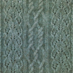 Possum Merino Polo Neck Jersey Lace Detail - McDonald Textiles
