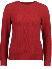 Load image into Gallery viewer, Possum Merino Crew Neck Lace Detail -  McDonald Textile