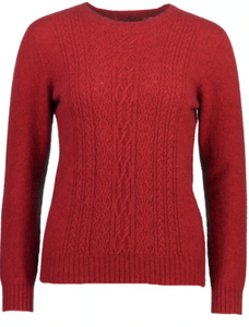 Possum Merino Crew Neck Lace Detail -  McDonald Textile