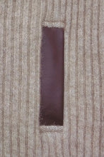 Load image into Gallery viewer, Possum Merino Rib Zip Jacket with Leather Trim - McDonald Textiles