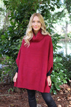 Load image into Gallery viewer, Possum Merino Lush Cowl Neck Poncho - Lothlorian Knitwear