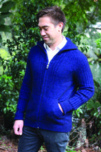 Load image into Gallery viewer, Possum Merino Mens Heke Jacket with Pockets - Lothlorian Knitwear