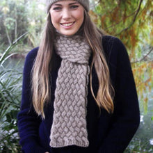 Load image into Gallery viewer, Possum Merino Woven Scarf-Lothlorian Knitwear