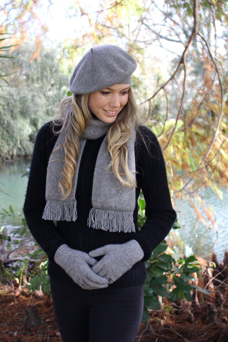 Possum Merino Plain Gloves - Lothlorian Knitwear