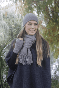 Possum Merino Plain Double Scarf - Lothlorian Knitwear|possum-boutique.co.nz