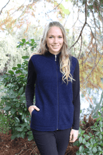 Load image into Gallery viewer, Possum Merino Plain Zip Vest with Pockets - Lothlorian Knitwear