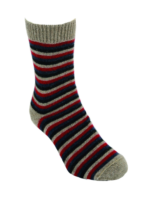 Possum Merino Multi-striped socks - Lothlorian Knitwear