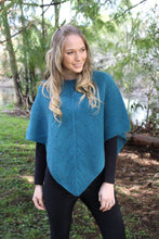 Load image into Gallery viewer, Possum Merino Fern Poncho - Lothlorian Knitwear