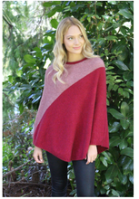 Load image into Gallery viewer, Possum Merino Apex Poncho - Lothlorian Knitwear