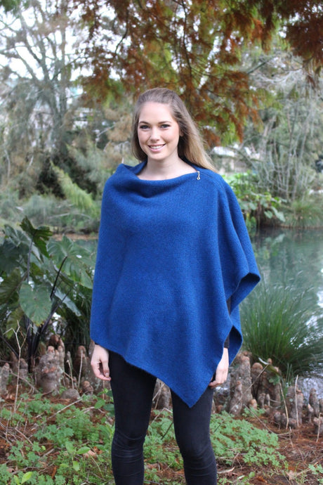 Possum Merino Zippered Wrap - Lothorian Knitwear