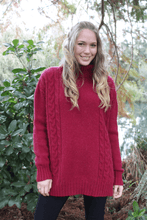 Load image into Gallery viewer, Alpaca Wool Cable Jumper