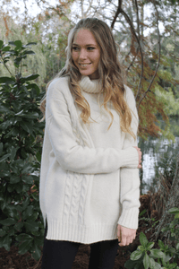 Alpaca Wool Cable Jumper