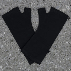 Merino Wool Plain Black Gloves