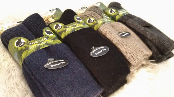 Possum Merino Low Compression Health Socks - NZ Made