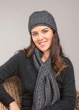 Load image into Gallery viewer, Possum Merino Cable Beanie - Koru Knitwear