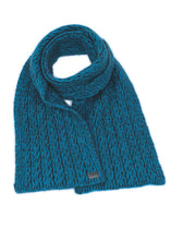 Load image into Gallery viewer, Two Tone Cable Scarf - Koru Knitwear - Possum-Boutique
