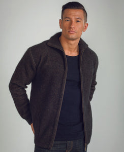 Possum Merino Zip Through Jacket - Koru Knitwear