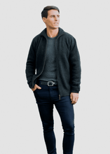 Load image into Gallery viewer, Possum Merino Zip Through Jacket - Koru Knitwear