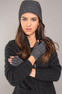 Possum Merino Fingerless Gloves - Koru Knitwear
