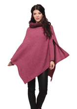 Load image into Gallery viewer, Possum Merino Fur Trim Zip Poncho - Koru Knitwear