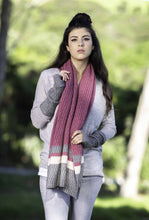 Load image into Gallery viewer, Possum Merino Colour Block Poncho - Koru Knitwear