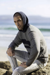 Possum Merino Hooded Jumper - Koru Knitwear