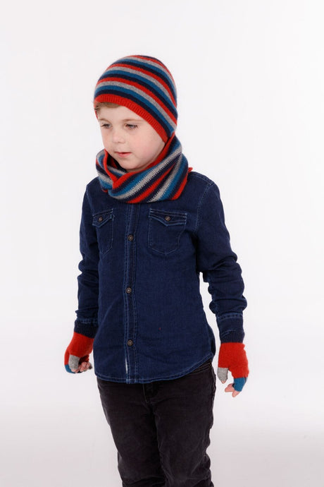 Possum Merino Kids Multi Fingerless Glove - Native World