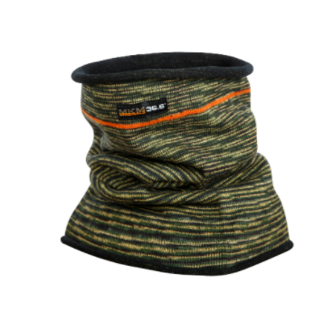 Wool Double Layer Camouflage Neck Warmer - MKM Knitwear