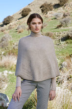 Load image into Gallery viewer, Possum Merino Lace Chevron Poncho - McDonald Textiles