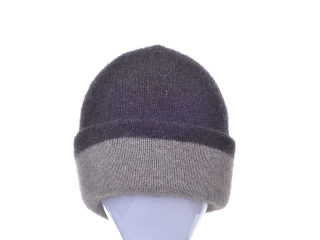 Possum Merino Two Tone Reversible Beanie - McDonald Textiles