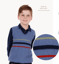 Load image into Gallery viewer, Possum Merino Kids Stripe Vest - Native World