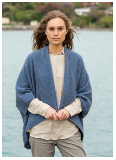 Possum Merino Longline Wrap - Noble Wilde Knitwear
