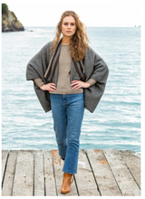 Load image into Gallery viewer, Possum Merino Aztec Longline Wrap - Noble Wilde