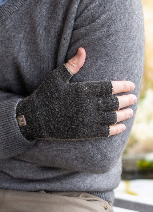 Possum Merino Fingerless Gloves - Noble Wilde Knitwear