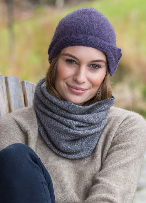 Possum Merino Moss Stitch Neck Warmer - Noble Wilde|possum-boutique.co.nz
