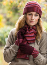 Load image into Gallery viewer, Possum Merino Striped Gloves - Noble Wilde|possum-boutique.co.nz