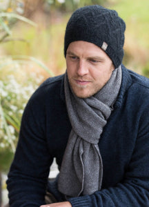 Possum Merino Moss Stitch Scarf - Noble Wilde Knitwear|possum-boutique.co.nz