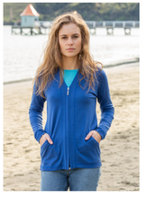 Load image into Gallery viewer, Merino Wool V Neck Full Zip Hoodie - Noble Wilde