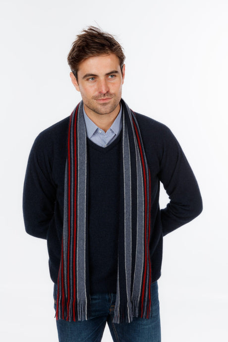Possum Merino College Stripe Scarf - Native World